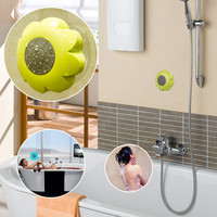 Mini Portable Subwoofer Waterproof Sunflower Shower Wireless Bluetooth Speaker Car Handsfree Receive Call Music Suction Phone Mic for Showers Bathroom ar Outdoor