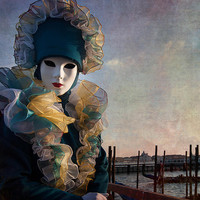 Venetian Carnival -- Soldier Of The Grand Canal By Zina Zinchik