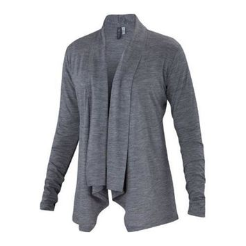 Women's Ibex Cascade Cardigan Stone Grey Heather | Overstock.com Shopping - The Best Deals on Juniors' Tops