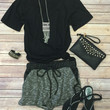Terry Pocket Shorts: Black