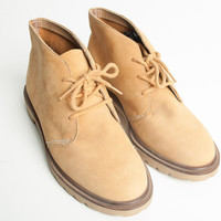 Vintage 1970s WOMENS SIZE 8 Light Brown Chukka Boots