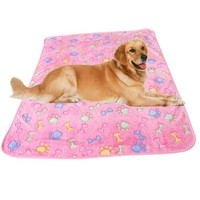 Dog Fleece Paw Blanket