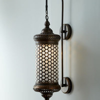 """Moroccan"" Metal Sconce - Horchow"