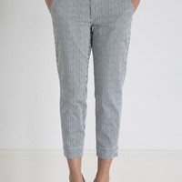 Henry & Belle Cropped Chino - Railroad Stripe
