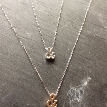 Best Friend Ampersand Necklaces