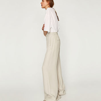 FLOWING PALAZZO TROUSERS Look+: 1 of 4