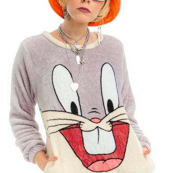 Vintage Y2K Bugs Bunny Cozy Pullover Sweater - One Size Fits Many