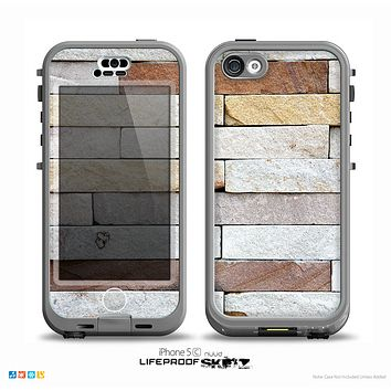 The Multicolored Stone Wall v5 Skin for the iPhone 5c nüüd LifeProof Case