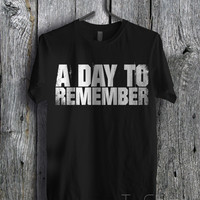 A Day to Remember Logo Art - zz Unisex Tees For Man And Woman / T-Shirts / Custom T-Shirts / Tee / T-Shirt