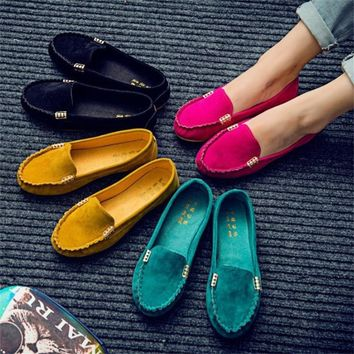 Womens Summer Flats Fashion Pure Color Wild Flat Casual Round Toe Comfortable Shoes