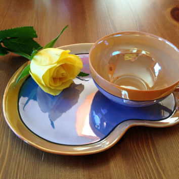 Extremely rare and gorgeous lustreware tea set! Circa 1930s/1940s. 6 settings, 17 pieces total.