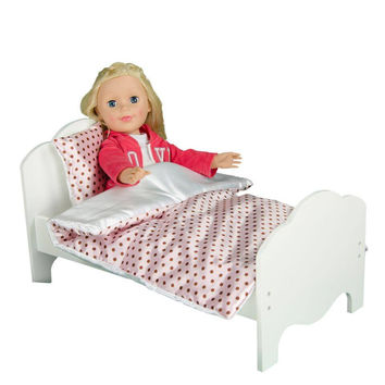 "Olivia's Little World - Little Princess 18"" Doll Bedding - Polka Dots"