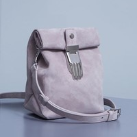 Opening Ceremony Athena Suede Small Lunch Bag - WOMEN - Bags - Opening Ceremony - OPENING CEREMONY