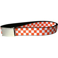 Checker - White and Orange Web Belt