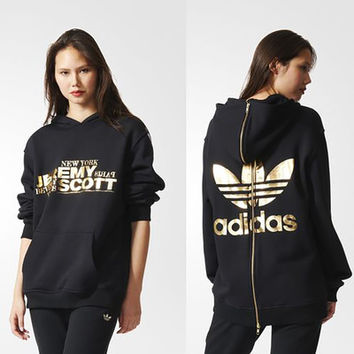 "Women""Adidas"" Gold logo Hooded Sweater"