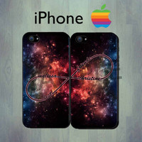 Best Friends iPhone case - Space Galaxy Infinity iPhone 4 case or iPhone 5 case - Personalized  iPhone Case, Two Case Set