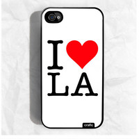I Love LA  iPhone Hard Case / Fits iPhone 4 4s by CRAFIC