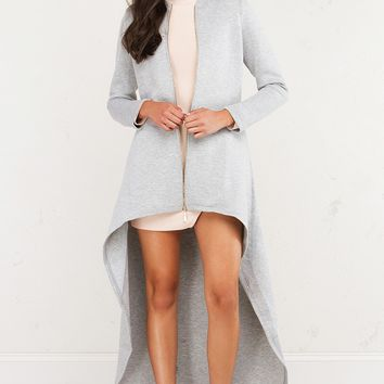 Exaggerated High Low Jacket