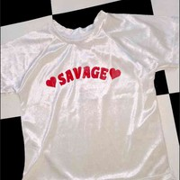 SWEET LORD O'MIGHTY! SAVAGE VELVET CROP TEE