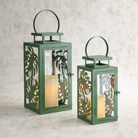 Mariah Metal Leaves Lanterns