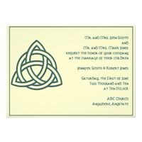 Celtic Knot in Teal and Mythic Ivory Announcements from Zazzle.com