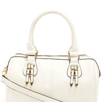 Bag of Tricks Ivory Handbag