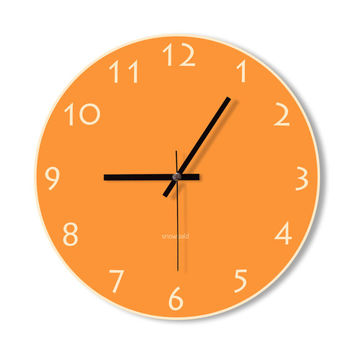 Wall Clock orange clock home decoration wall art modern simple clock bedroom living room office clock stylish clock