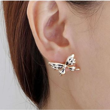 Fashion Women's Personalized Stud Earrings Two Different Types