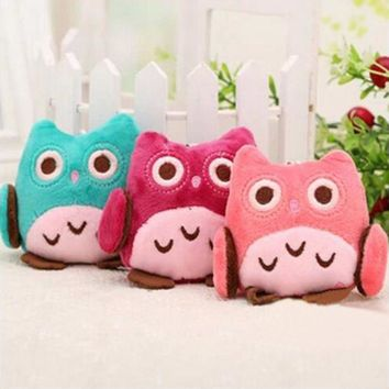 1PC Kids Baby Children Lovely Educational Children Animal Owl Plush Stroller Doll Toys Pendant Gift