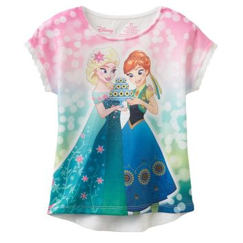 Disney's Frozen Fever Elsa & Anna Birthday Cake Tee by Jumping Beans - Toddler Girl, Size:
