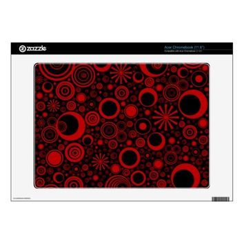 Rounds, Red-Black Vinyl Acer Chromebook Skin