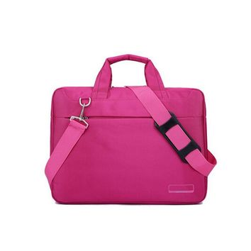 Fuchsia Laptop Bag for Women 14 Inches Laptop Messenger Bag