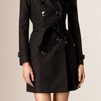 Lace Topcollar Stretch Cotton Trench Coat