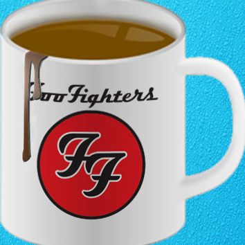 foo fighters logo mug heppy coffee.