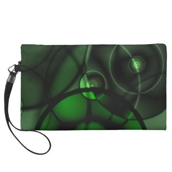 Forest Green Wristlet Purse