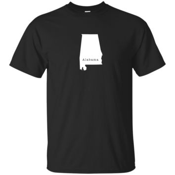Alabama State Outline T Shirt 5 - Great Gift for AL Pride Tee or T-Shirt