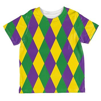 Mardi Gras Jester Costume All Over Toddler T Shirt