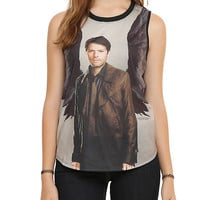 Supernatural Winged Castiel Sublimation Girls Muscle Top