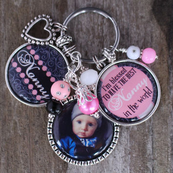 PERSONALIZED NANNY GIFT,  Personalized Nanny Key Chain, Personalized Nanny Gift, Personalized Nanny Key Chain, Nanny Jewelry, Babysitters