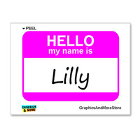 Lilly Hello My Name Is Sticker