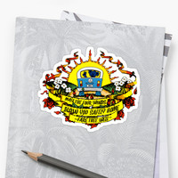 'May The Four Winds Blow You Safely Home - Fare Thee Well' Sticker by Ithacaboy