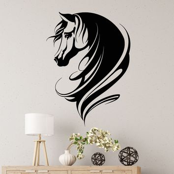 Vinyl Wall Decal Abstract Horse Head Animal Home Decor Stickers (2794ig)