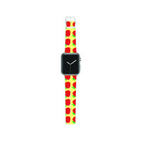 "Jane Smith ""Seasons Summer"" Yellow Red Apple Watch Strap"