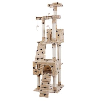 "Pet Kitty Play House New 67"" Cat Tree Tower Condo Furniture Scratching Post"