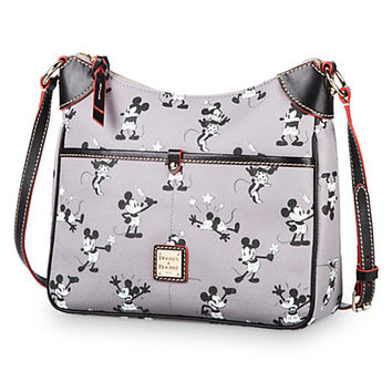 Mickey and Minnie Mouse Retro Crossbody Bag by Dooney & Bourke - Gray | Disney Store