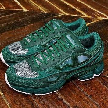CREY8KY Raf Simons x Adidas Consortium Ozweego 2 Pink Green Women Men Casual Trending Running Sneakers