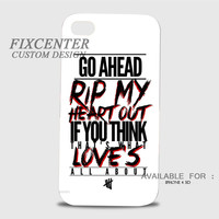 5 seconds of summer rejects quote 3D Image Cases for iPhone 4/4S, iPhone 5/5S, iPhone 5C, iPhone 6, iPhone 6 Plus, iPod 4, iPod 5, Samsung Galaxy (S3, S4, S5, S6) by FixCenters