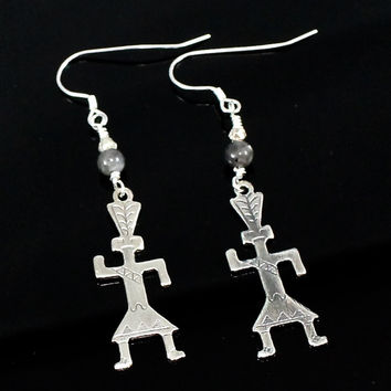 Sterling Silver Tribal Earrings