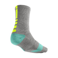 Nike Dri-FIT Elite Crew Basketball Socks Size XL (Grey)