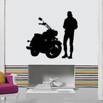 Wall Stickers Vinyl Decal Bike Biker Speed Extreme Sport Cool Decor  Unique Gift (z1705)